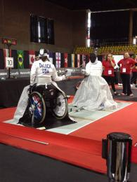 Lauryn DeLuca at the Montreal Wheelchair Grand Prix
